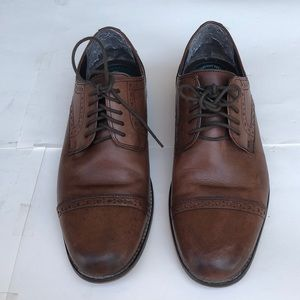 Men Nunn Bush 9 1/2 M Leather Shoes Brown